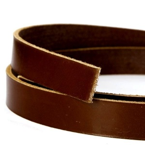 Nut Brown 3mm Saddlery Leather Strips