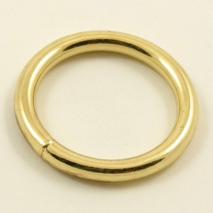 O Ring Brass Plated Iron 32mm 1 1/4''