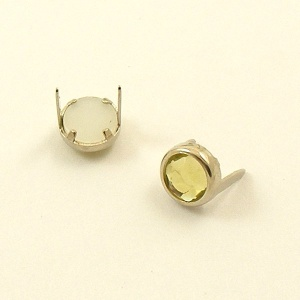 PALE YELLOW 7mm Crystal Studs