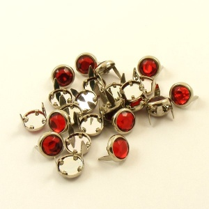 RED Crystal Studs 10mm