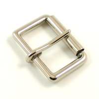 32mm 1 1/4'' Nickel Plated Roller Buckle