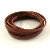 1 Metre Flat Oxblood Brown Leather Thong 3mm x 1mm