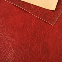 1.2mm Glossy Crease Texture Veg Tanned Red A4
