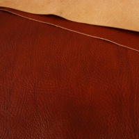 1.2mm Glossy Crease Texture Veg Tanned Chestnut A4