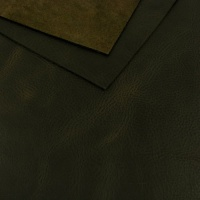1.6mm Textured Full Grain Black Leather 30x60cm