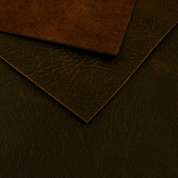1.7mm Unusual Textured Dark Brown Leather A4