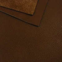 1.7mm Chestnut Brown Crease Texture Leather 30x60cm