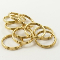 10 Large Brassed Split Rings 1'' 25mm