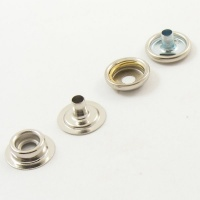 15mm Nickel Plated Press Studs x 10