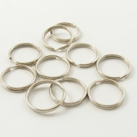 10 Medium Split Rings Nickel Silver 3/4'' 20mm