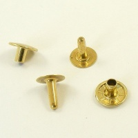 12mm Brass Rivets - 12mm Cap