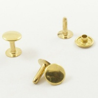 12mm Brass Rivets - 9mm Cap