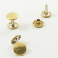 12mm Double Cap Brass Rivets - 10mm Cap
