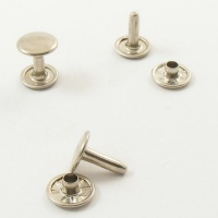 12mm Double Cap Nickel Plated Rivets - 12mm Cap