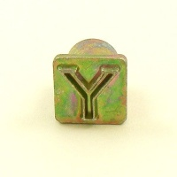 12mm Modern Letter Y Embossing Stamp
