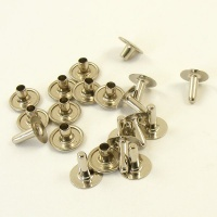12mm Nickel Plated Rivets - 12mm Cap