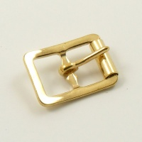 12mm Stamped Whole Roller Buckle - Brass Plated