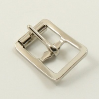 12mm Stamped Whole Roller Buckle - Nickel Plate