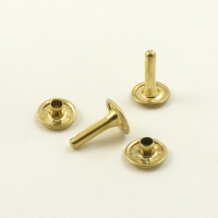 15mm Double Cap Brassed Rivets - 11mm Cap