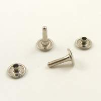 15mm Nickel Plated Double Cap Rivets - 11mm Cap