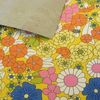 2.8mm Heavyweight 60's Style Floral Print Leather 30x60cm