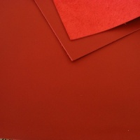 1mm Smooth Cowhide Red A4