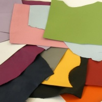 1mm Smooth Coloured Leather Pieces 350g