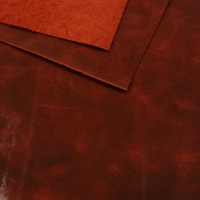1.0mm Glossy Burgundy Leather 30x60cm