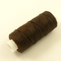 1mm  Brown Heavy Synthetic Waxed Thread 22 Metre Roll