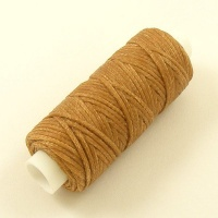 1mm  Natural Beige Heavy Synthetic Waxed Thread 22 Metre Roll