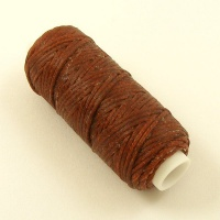 1mm Rust Tan Heavy Synthetic Waxed Thread 22 Metre Roll