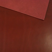 2 - 2.5mm Burgundy Vegetable Tanned Leather A4 Size
