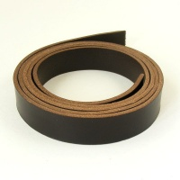 2 - 2.5mm Dark Brown Vegetable Tanned Strip