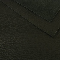 2.2mm Chunky Textured Black Leather A4