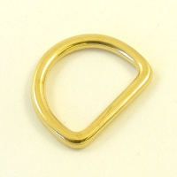 20mm 3/4'' Brass Shallow  D Ring