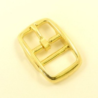 Double Bar Buckle Brass Plated 20mm