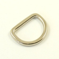 20mm 3/4'' Shallow Nickel Silver D Ring