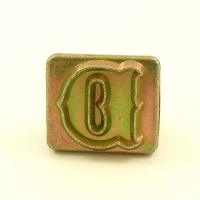 20mm Decorative Letter D Embossing Stamp
