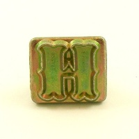 20mm Decorative Letter H Embossing Stamp