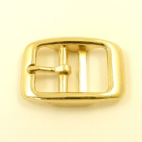 Double Bar Buckle Brassed 25mm