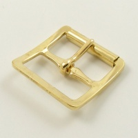 25mm Stamped Whole Roller Buckle - Brass Plate