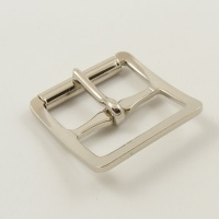 25mm Stamped Whole Roller Buckle - Nickel Plate