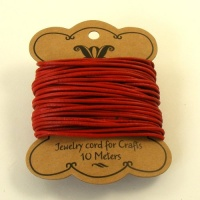 Red 2mm Round Leather Thong 10 Metres