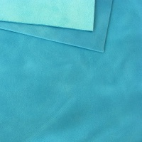 2mm Turquoise Rustic Style Leather 30 x 60cm
