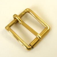 Solid Brass Roller Belt Buckle 1 1/4 32mm