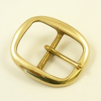 38mm Oval Brass Belt Buckle