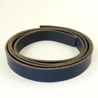2.8-3mm Blue Vegetable Tanned Leather Strip