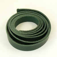 2.8-3mm Green Vegetable Tanned Leather Strip