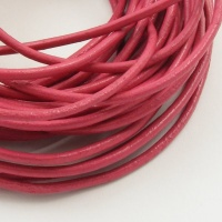 Dark Pink Leather Thonging 2mm Round 5 Metres