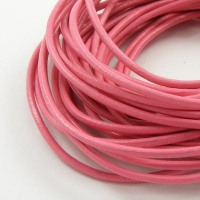 Mid Pink Leather Thonging 2mm Round 5 Metres